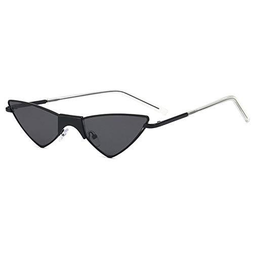 Gafas De Sol Hombre Mujeres Ciclismo Gafas De Sol Triangulares con Montura De Gafas De Sol De Moda para Mujer Y Hombre, Anteojos Vintage, Negro