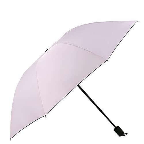 Schwarzer Kunststoff-Sonnenschutz Und Uv-Schutz, Dreifacher Regenschirm Für Regen Oder Sonnenschein