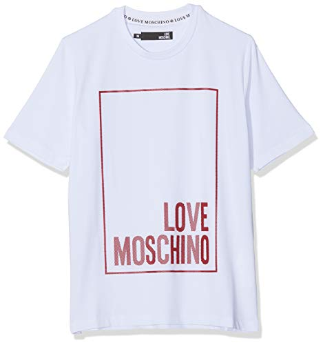 Love Moschino Logo Box Print_Regular Fit Short Sleeve T-Shirt Camiseta para Hombre