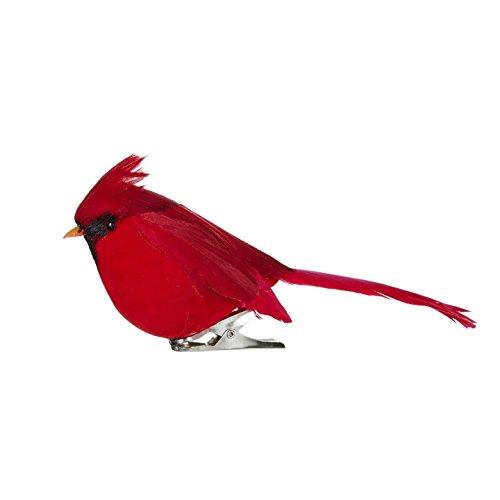 RAZ Imports - 4 Inch Red Cardinal Clip on Bird