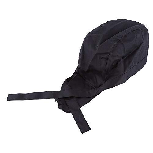 Kochmütze - Piraten-Stil Kochkappen-Tuch-Küche-Restaurant-Kellnerin-Kellner-Catering-Hüte (schwarz)