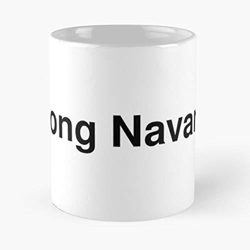 Navarro Trends Trend Word Twitter Text Typography Vhong Best Taza de café de cerámica de 325 ml