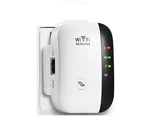 WLAN Repeater,WLAN Verstärker 300Mbit/s 2,4GHz WiFi Range Extender mit LAN Port/WPS Taste/Repeater/AP-Modus WLAN Verstaerker WiFi Signalverstärker kompatibel mit Allen WLAN Geräten-weiß