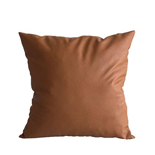 DOLDOA Haushalt Wohnen,Kunstleder Kissenbezüge Dekokissen Sofa Home Decor Solid Color 120x30 (A)