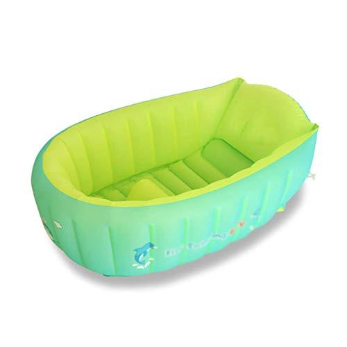 Aufblasbare Baby-Badewanne, tragbares Mini-Luftschwimmbad für Kinder, Kleinkinder, dick, faltbar, Duschbecken mit weichem Kissen WTZ012