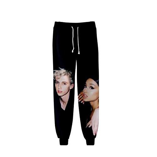 Unisex 3D HD gedrukte Ariana_Grande joggingbroek elastische taille trekkoord broek broek voor heren en dames (XXS-XXXXL),H,4XL