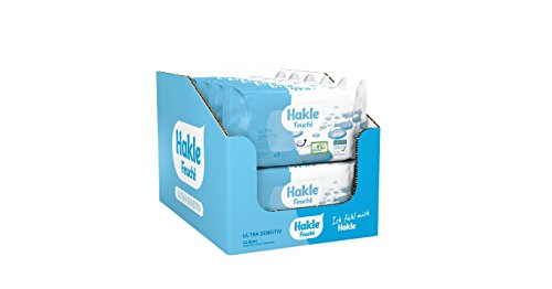 Hakle Feucht Ultra Sensitiv im 12er-Pack (12 x 42 Blatt), mildes feuchtes Toilettenpapier, extra hautverträgliche feuchte Tücher, schnell wasserlösliche Feuchttücher