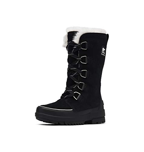 Sorel - Women's Tivoli IV Tall Waterproof Insulated Winter Boot with Faux Fur Collar, Black, 8 M US