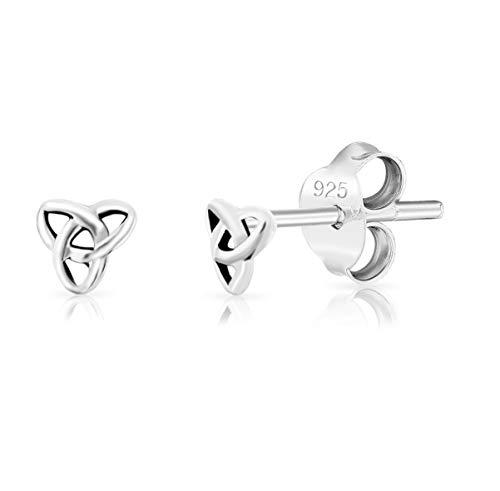 DTPsilver - Damen - Ohrringe 925 Sterling Silber Klein Keltisch Trinity Knoten - Ohrstecker