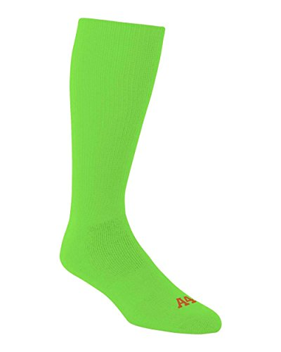 Lime Bright Green Youth Small A4 Performance Tube Sports Socks