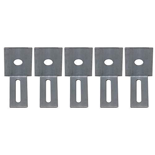 BQLZR 5 Stück Schlaginstrumenten-Halterung für elektronische Schlagzeug-Trigger, L-Form