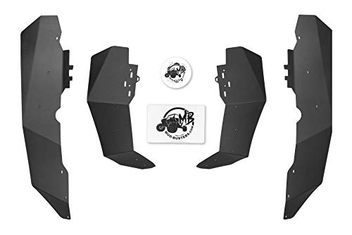 MudBusters MAX Coverage Fender Flares for Polaris RZR XP Turbo S - Full Set (Front & Rear)