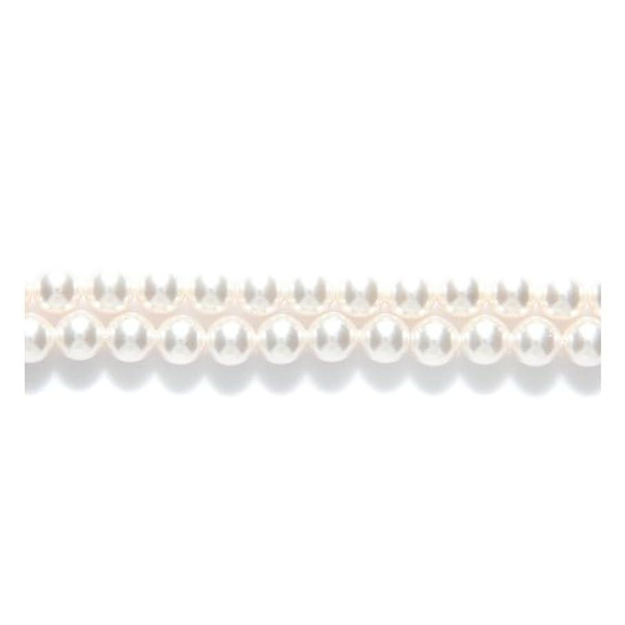 SWAROVSKI ELEMENTS Swarovski 5810 Crystal Round Pearl Beads, 5mm, White, 5-mm,