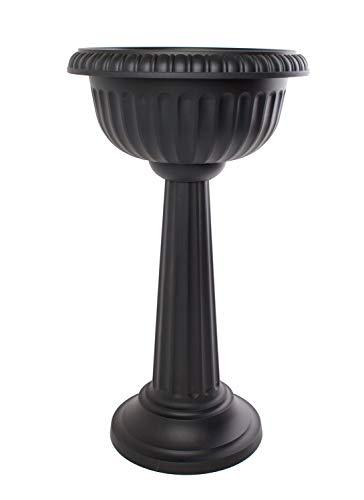 Bloem Grecian Urn Pedestal Planter, 18', Black