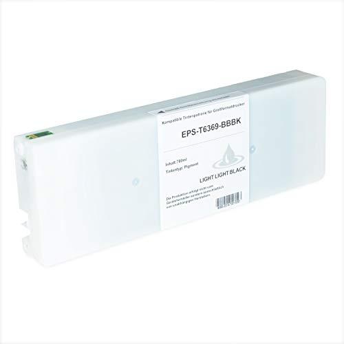 Tintenpatrone kompatibel für Epson Stylus T6369 C13T636900 Pro WT 7700 7890 7900 9700 9890 9900 SpectroProofer UV Series EFI - Light Light Schwarz 700ml