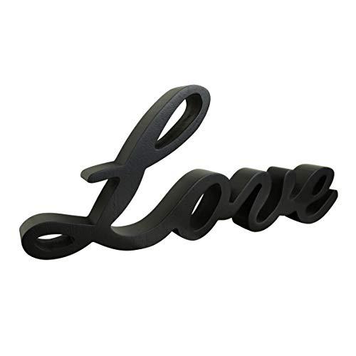 CVHOMEDECO. Black Wooden Words Sign Free Standing Love Desk/Shelf/Home...