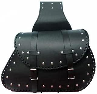 SD36/Rider nero borchie da moto borse laterali in pelle bisaccia set
