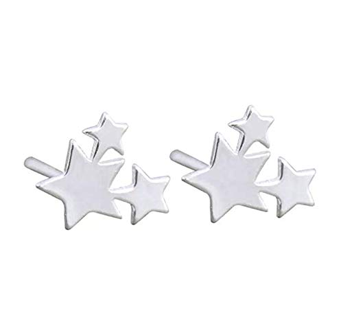 iszie jewellery sterling silver sweet little mini triple stars ear crawler girl earrings