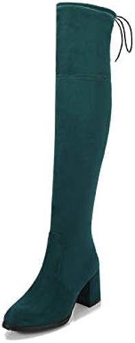 HommesGLTX Talon Aiguille Talons Hauts Sandales Sandales Sandales Super Big Taille 32-48 Femmes Au-Dessus du Genou Bottes Montantes Talons Hauts Bottes d'hiver Chaussures De Soirée De Haute Qualité 1e2