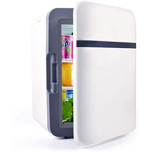 Skysep Estándar Coche Mini Nevera 10L Pequeña Frigorífico Minibar Portatil Compacto Doble Uso Refrigeración y Calentamiento Bebida del Refrigerador para Almacenamiento