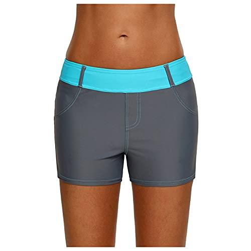 JOYISURE Damen Kurze Yogahosen Stretch Boxershorts mit Korallengürtel Slips Seamless Unterwäsche Panty Boxershorts Unterhose für Sport Yoga Fitness Schwimmen(#01,M)