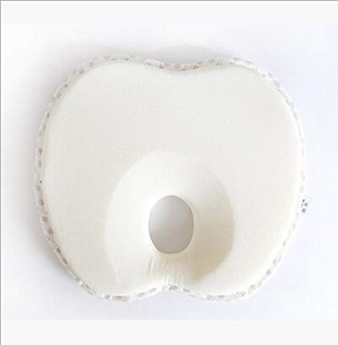 JINGXIU Almohada antirollo para recién nacido, con cabeza plana, para evitar que el bebé apoye la cuna para recién nacidos YYT344 (color: manzana blanca)