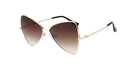 Gafas de Sol Gafas de Sol Irregulares Personalidad triángulo Ojo de Gato Gafas de Sol Arco Gafas de Sol de Montura pequeña protección para los Ojos (Color : D)