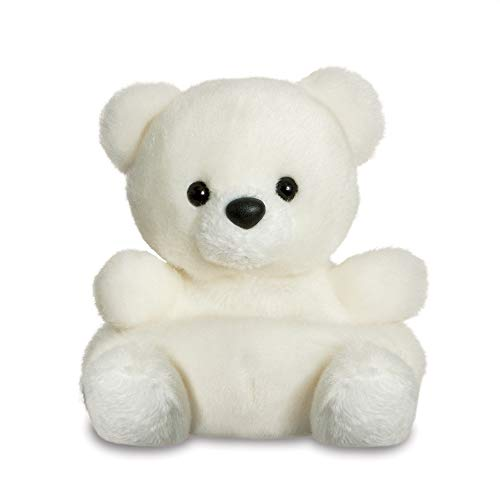 Aurora, 61355, Palm Pals - Orso polare innevato, 15 cm, peluche bianco