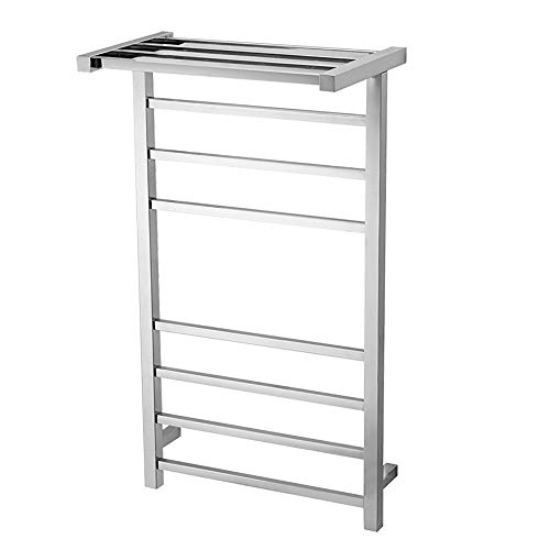 Great Features Of Towel Warmer Rack, 7-Bar Wall Mounted Towel Warmer with Top Shelf, Energy Efficien...