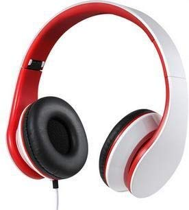YUIK 3,5 mm bedrade hoofdtelefoon 3,5 mm stereo hoofdtelefoon met microfoon Opvouwbare hoofdband hoofdtelefoon Big Auriculares voor iPhone Samsung Compute, rood