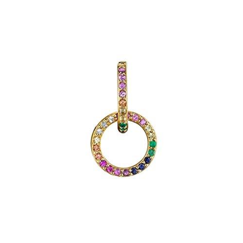 QIN circle ear cuffs telescopic earrings women's men's golden huggie men's women's babysitter
