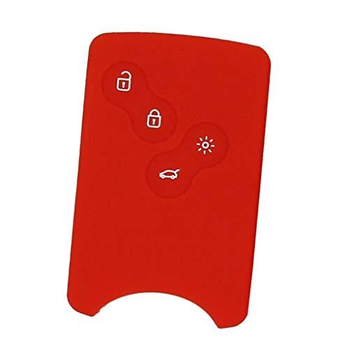 MagiDeal Silicone Distance Voiture Clé Fob Couvercle Protecteur - #16 Rouge