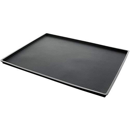 Lékué - Tappetino da forno con bordo, 40 x 30 cm, colore: Nero
