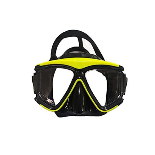 GQTYBZ Juego de esnórquel, máscara de buceo sin marco con lente de vidrio templado antivaho, equipo con correas ajustables para la cabeza para hombres y mujeres