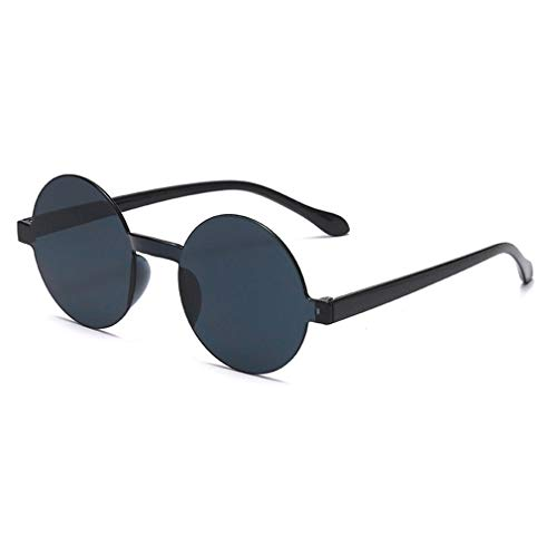 Yying Gafas de sol Redondas Mujeres Hombres Gafas de plástico Transparente Gafas de sol Transparentes del color del caramelo UV400