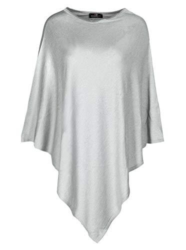 Cashmere Dreams Poncho-Schal aus Baumwolle - Hochwertiges Cape für Damen - XXL Umhängetuch und Tunika - Strick-Pullover - Sweatshirt - Stola für Sommer und Winter Zwillingsherz - hgr