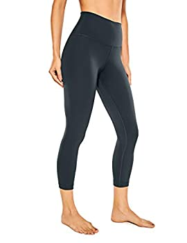 CRZ YOGA Women s Naked Feeling I Workout Leggings 21 Inches - High Waist Capris Tight Yoga Pants Melanite -R418A X-Small