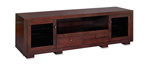 Standout Designs Haven EX 82-inch Solid Wood TV Stand/TV Console/Media Console for Flat Screen TVs to 90-inch (Espresso on Cherry)