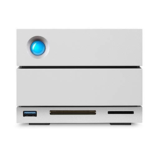 LaCie 2big Dock Thunderbolt 3, 16 TB, Sistema Professionale RAID con 2 Unità, USB-C 3.1, Card Reader, Ottima Capacità, per Mac e PC, 5 Anni di Servizi Rescue (STGB16000400)