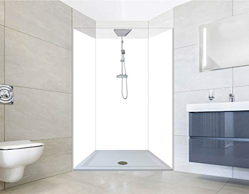 NORILIVING Muster Duschrückwand Fliesenersatz Dusche 20x29 cm PVC Weiß | Duschwand ohne Bohren 1 teilig kostenloser Zuschnitt auf Wunschformat | Aluverbundplatte 3mm