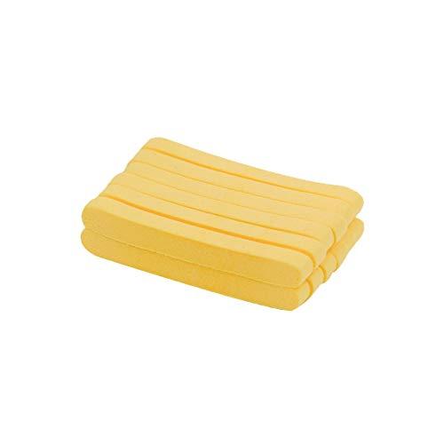12 esponjas faciales comprimidas para mujeres esponjas de maquillaje diario y herramientas de limpieza - amarillo.