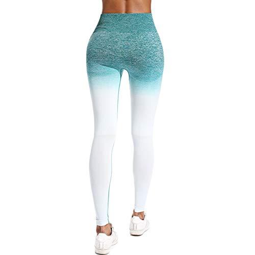 PKYGXZ Legins Fitness Mujer Leggings de Yoga sin Costura Medias de compresión Leggings de Gimnasia Delgados Deporte Mujer Fitness Push up Control Barriga Legging Femme