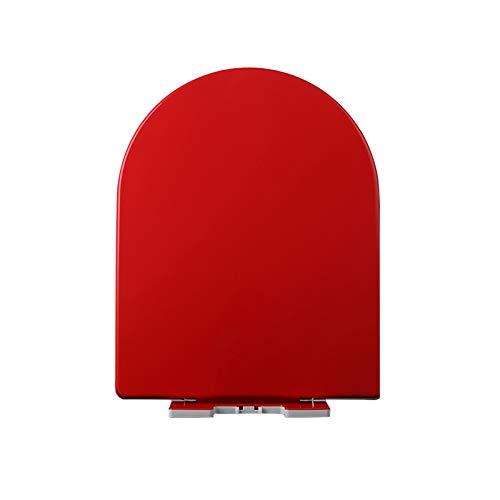 tapa del inodoro,Asiento de inodoro de color Cubierta de la junta del asiento de inodoro engrosada general del hogar Cubierta de inodoro en forma de U Base de liberación rápida para una fácil limpieza