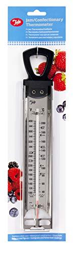 Tala Termómetro para Mermeladas y Azúcares, Acero Inoxidable, Plateado, 3x10x39.5 cm