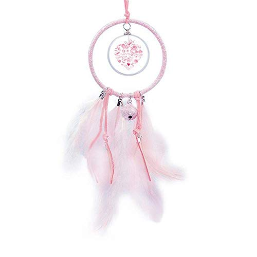 Beauty Gift Atrapasueños de ángel en forma de corazón rojo para el día de San Valentín