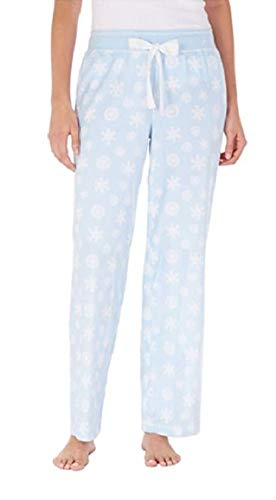 Nautica Women's Pajama Bottom Pant (S, Blue Snowflake)