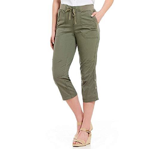Khakis & Co. Women's Utility POPLIN Capri Color: Dusty Olive New (10)