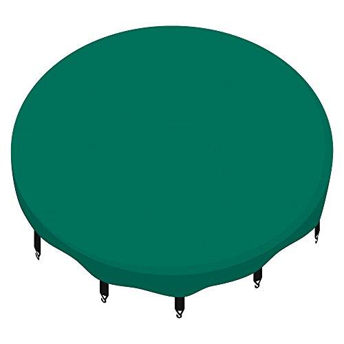AWM Trampolin Abdeckplane Regenabdeckung Schutzplane 244 305 366 400 430 460 cm schwarz blau grün (grün, 244cm)