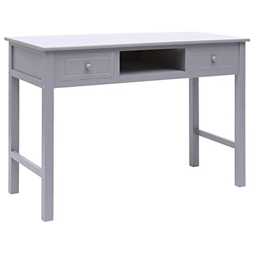 HUANGDANSP Escritorio de Madera Gris 110x45x76 cm Mobiliario Mobiliario de Oficina Escritorios