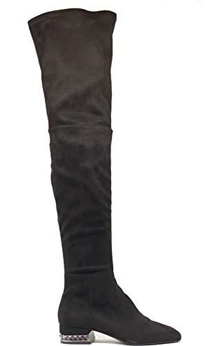 Bruno Premi Stiefel aus Wildleder MOD.2105, Schwarz - Schwarz - Größe: 38 EU